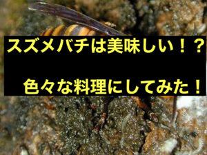 スズメバチ味